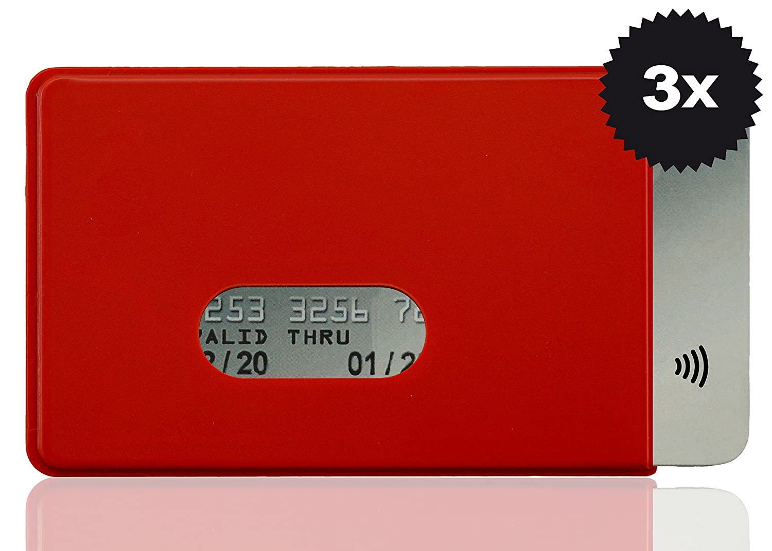 W4872015  RFID Credit Card Cover Fred 3x Red OPTEXX GmbH