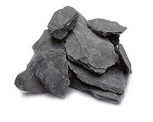 Natural Slate Stone -1 to 3 inch Rocks for Miniature or Fairy Garden, Aquarium, Model Railroad & Wargaming