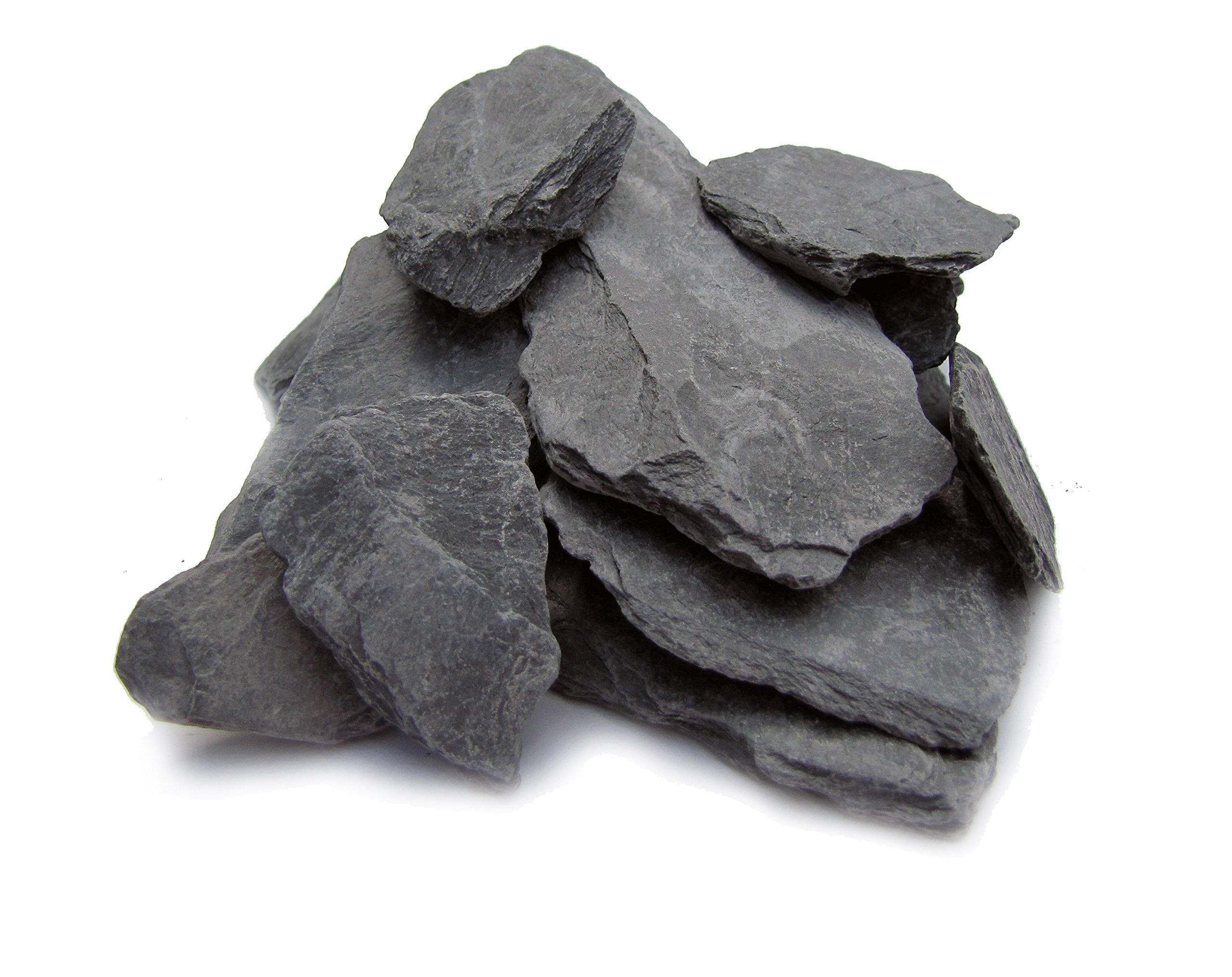 Natural Slate Stone -1 to 3 inch Rocks for Miniature or Fairy Garden, Aquarium, Model Railroad & Wargaming 2lbs