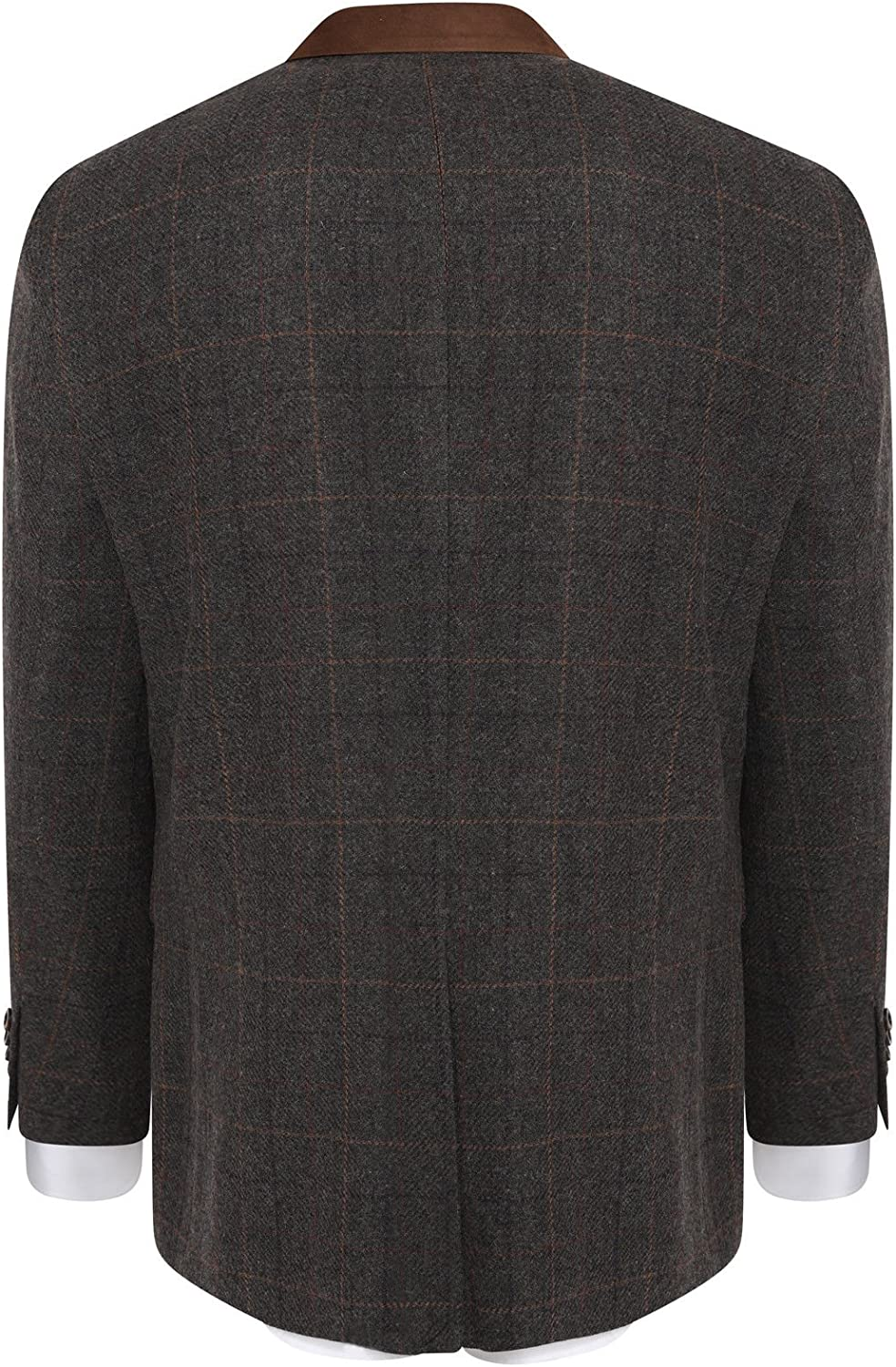 HARRY BROWN Blazer Wool Blend Check Tailored Fit