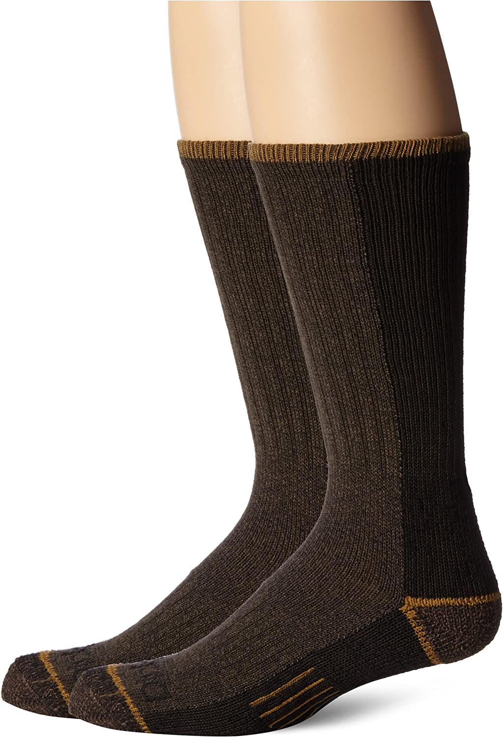 Dickies Mens 2 Pack Steel Toe Cotton Crew Sock Size: 10-13 Shoe Size: 6-12 Olive