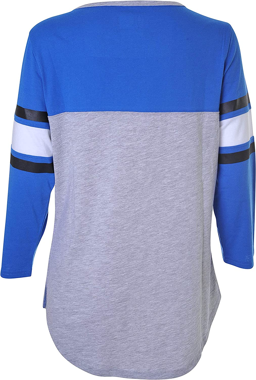 Ultra Game NBA Dallas Mavericks Womens T-Shirt Raglan Baseball 3//4 Long Sleeve Tee Shirt Heather Gray Small