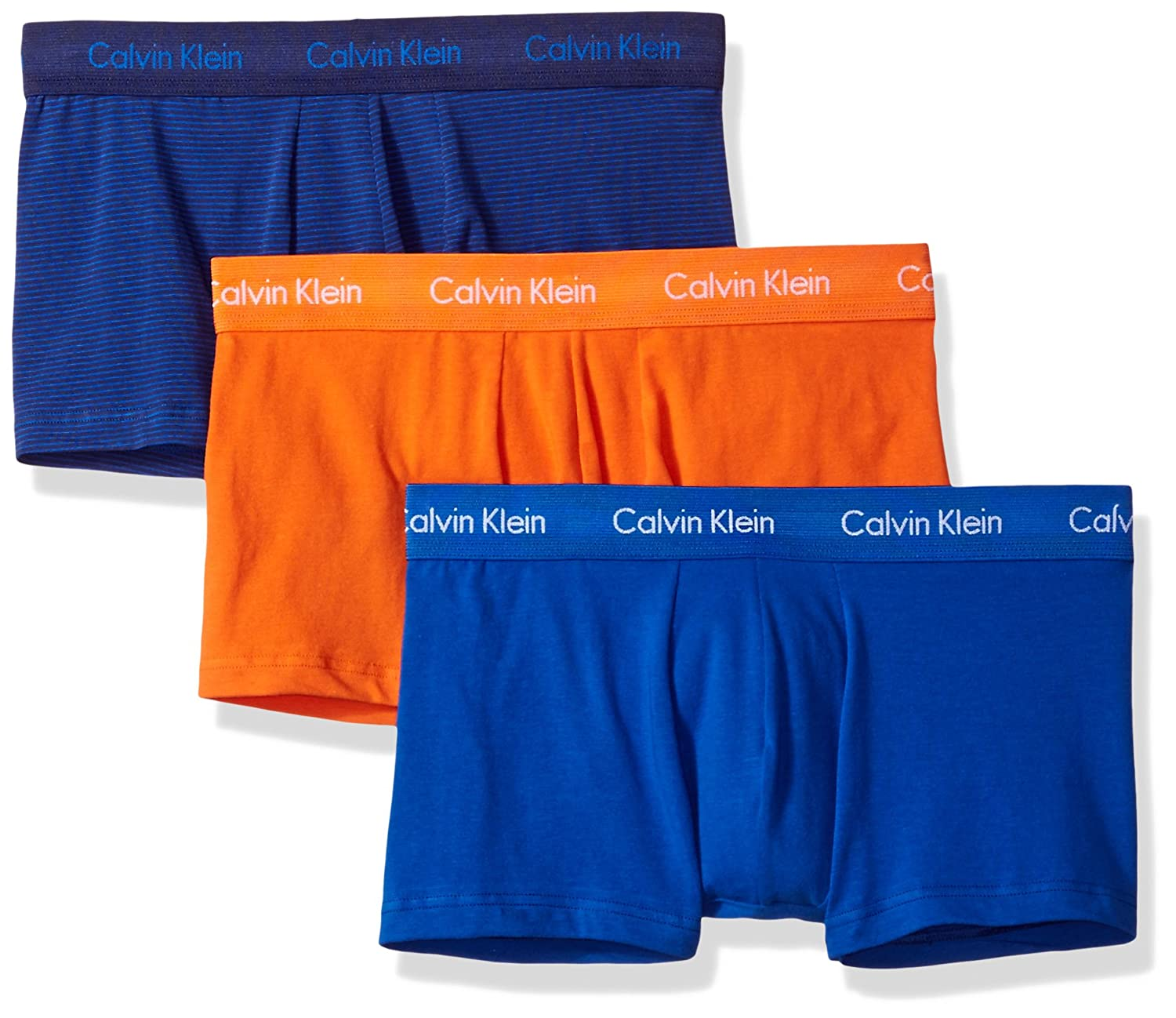 CALVIN KLEIN カルバンクライン コットンストレッチ クラシックフィット ローライズトランクス 3枚組 NU2664 3PACK COTTON STRETCH Classic Fit Low Rise Trunks B072M39V68 Large|Muscari Blue/Blue Ribbon/Muscari Blue Stripe/Deep Sunset Muscari Blue/Blue Ribbon/Muscari Blue Stripe/Deep Sunset Large