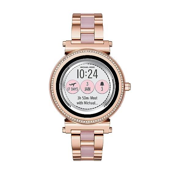 Michael Kors Reloj Analogico para Unisex de Cuarzo con Correa en Acero Inoxidable MKT5041: Amazon.es: Relojes