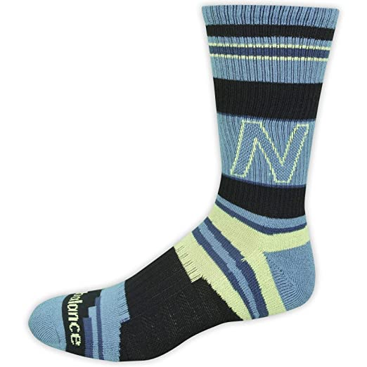 fba7a4efaa764 New Balance Unisex 1 Pack Lifestyle Retro Stripped Crew Socks