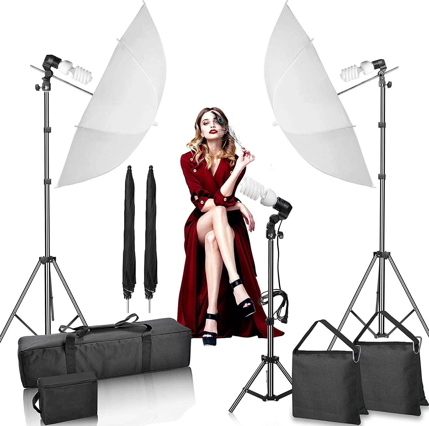 Color : As Shown, Size : 50x200CM AiKuJia Lighting Reflector Lighting Reflector Soft Diffuser Panel Reflector Scrim Kit Photography Studio with Portable Studio and Outdoor Portrait Photography
