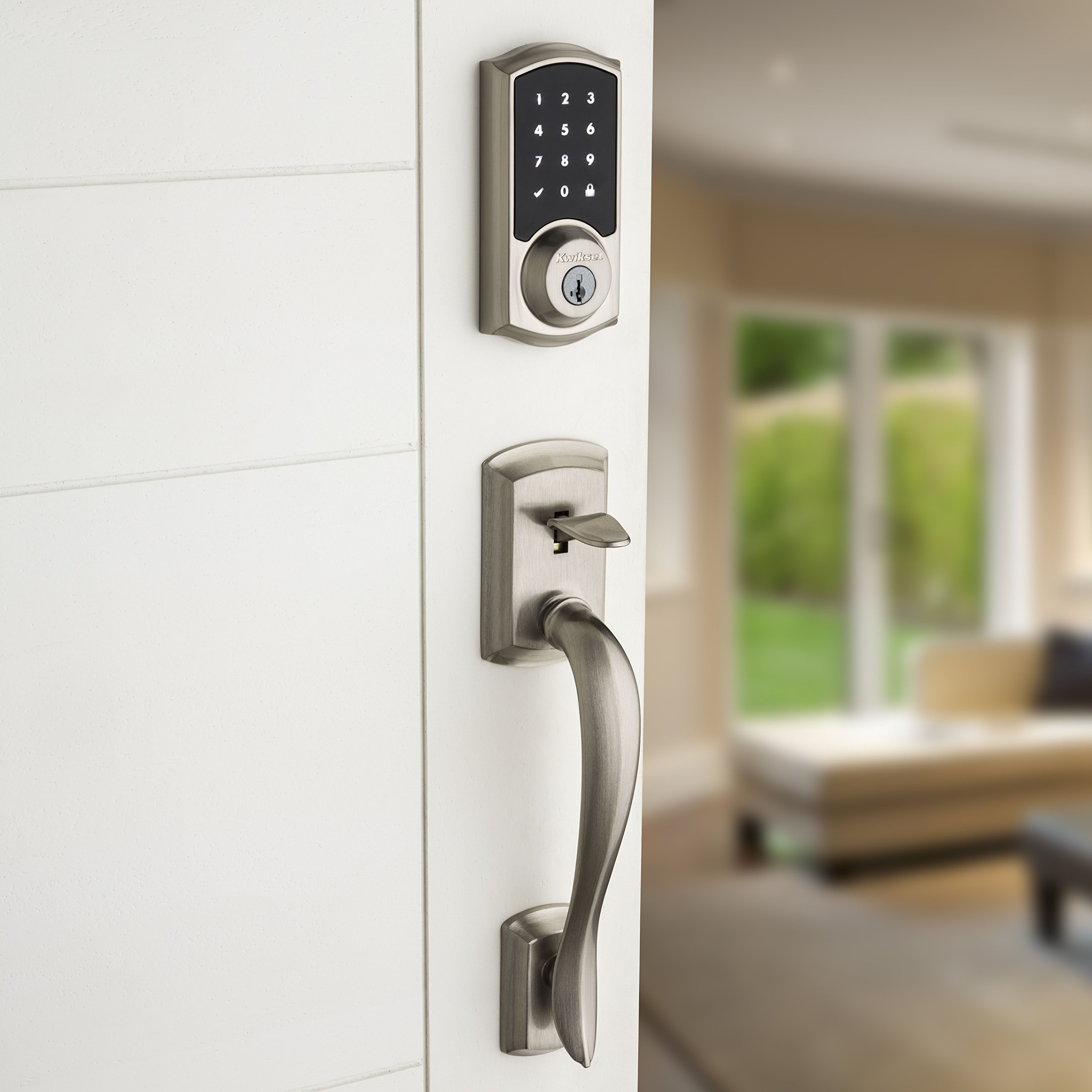 Kwikset 99160-008 SmartCode ZigBee Touchscreen Smart Lock works with Echo Plus & Alexa, featuring SmartKey, Satin Nickel by Kwikset (Image #10)