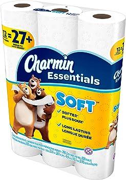36-Pack (3 x 12-Pack) Charmin Essentials Soft (or Strong) Bath Tissue