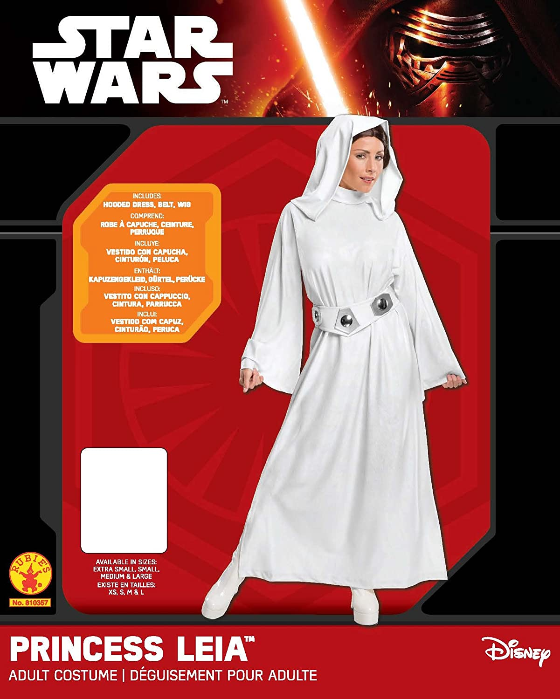 Rubies - Disfraz oficial de Princesa Leia de Star Wars para mujer adulta - talla M: Amazon.es: Juguetes y juegos