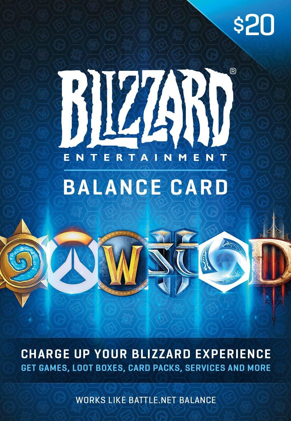 Amazon.com: $20 Battle.net Store Gift Card Balance - Blizzard Entertainment [Digital Code] [Online Game Code]: Video Games