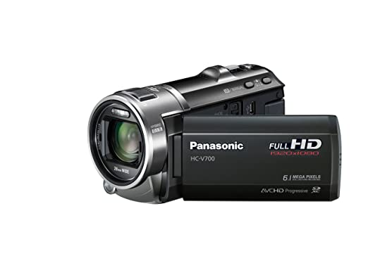 Panasonic V700 Full HD 1920 x 1080p (50p) 3D Ready Camcorder - Black (1MOS  Sensor, 46x Intelligent Zoom, SD Card Recording, 28mm Wide Angle with Face