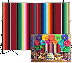 Allenjoy 7x5ft Soft Fabric Mexican Fiesta Theme Party Backdrop Mexican Festival Banner Cinco De Mayo Party Decorations Birthday Photography Background Photo Booth Props Photoshoot