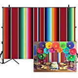 Allenjoy 7x5ft Soft Fabric Mexican Fiesta Theme Party Backdrop Mexican Festival Banner Cinco De Mayo Party Decorations…