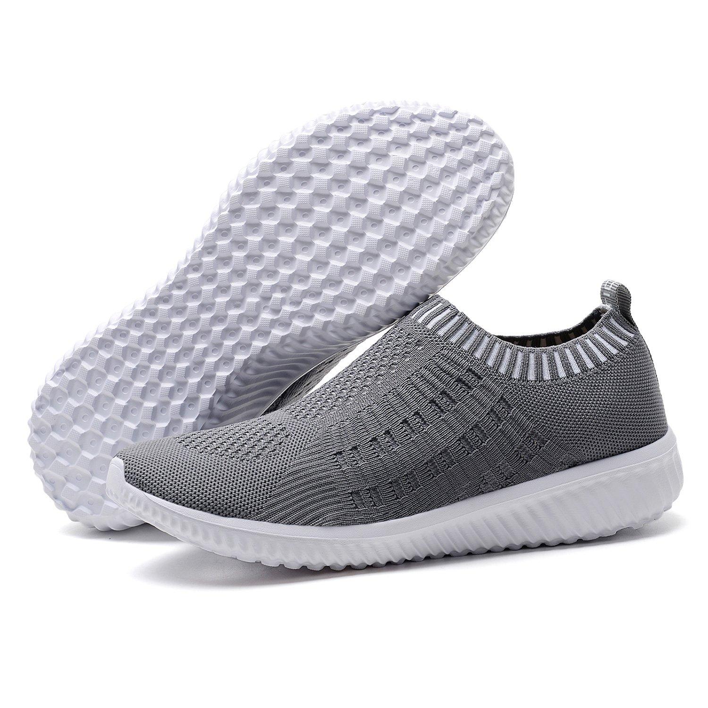 TIOSEBON Women's Athletic Walking Shoes Casual Mesh-Comfortable Work Sneakers 13 US Deep Gray
