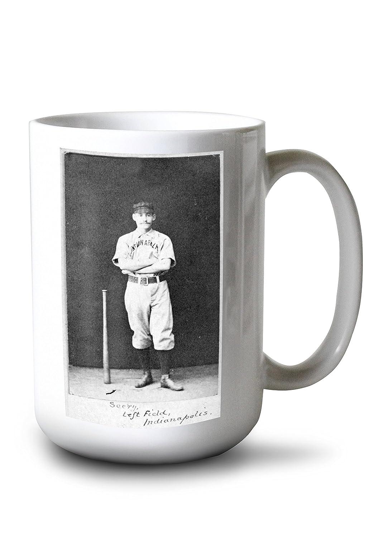 インディアナポリスHoosiers – Emmett Seery – 野球カード 15oz Mug LANT-3P-15OZ-WHT-22461 B077RXBHJS  15oz Mug