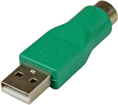StarTech.com GC46MF - Adaptador teclado o ratón USB a conector PS/2 MiniDIN, verde