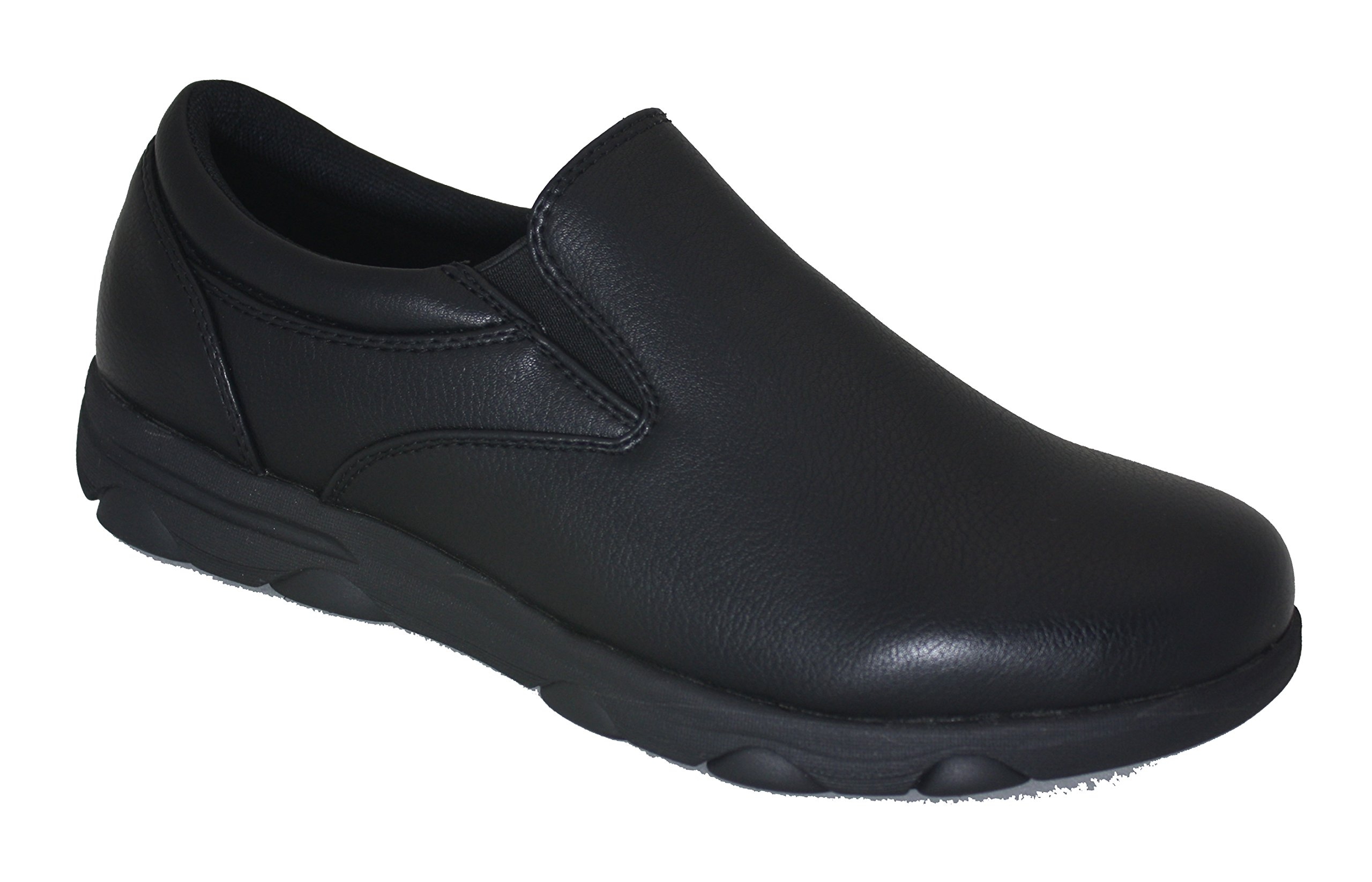 Gelato Mens 8556 Non-Slip Professional Slip on Comfort Work Shoe with Memory Insole (9.5, Black) by Gelato