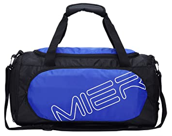 761b652ac2b MIER Gym Bag Sports Duffel for Men and Women with Shoe Compartment, 25L  (Blue)  Amazon.co.uk  Luggage