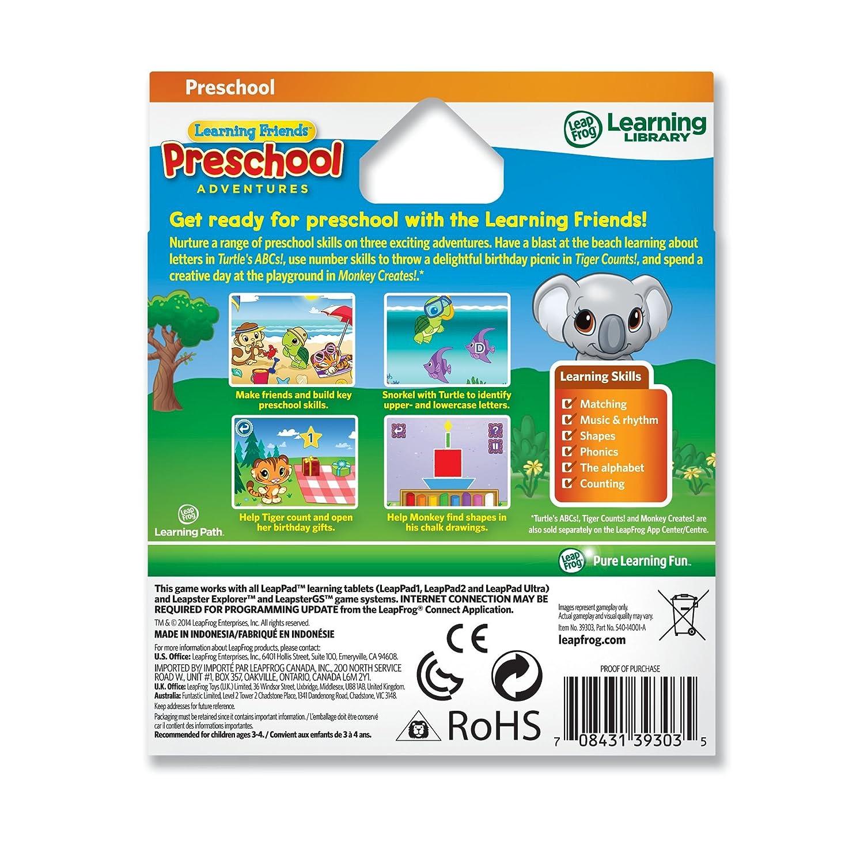 Amazon.com: LeapFrog Learning Friends: Preschool Adventures Learning ...