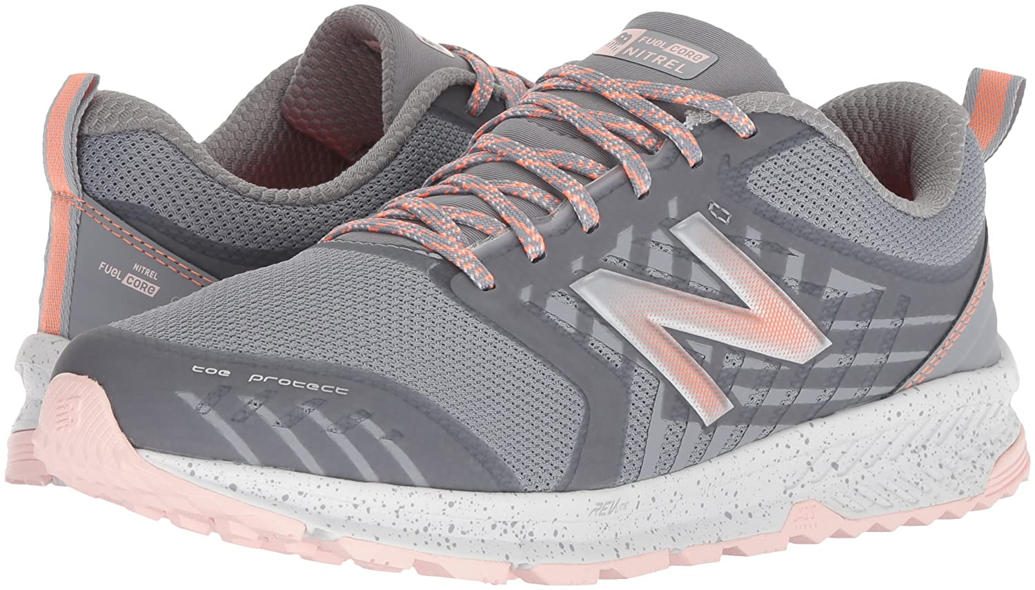 New Balance B072MFLYY7 Women's Nitrel v1 FuelCore Trail Running Shoe B072MFLYY7 Balance 6 B(M) US|Grey b63fb8