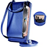 Small Crossbody Cell Phone Purses for Women with Strap & Wristlet,RFID Leather Cellphone Purse Bags Wallet