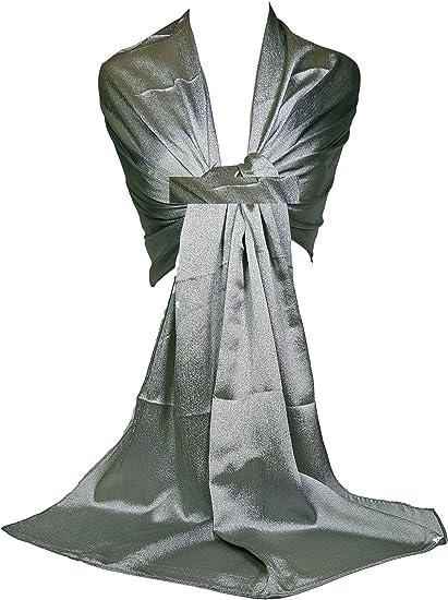 GFM® chal bufanda sedosa brillante. para las damas de honor de la boda de noche (SLK3)