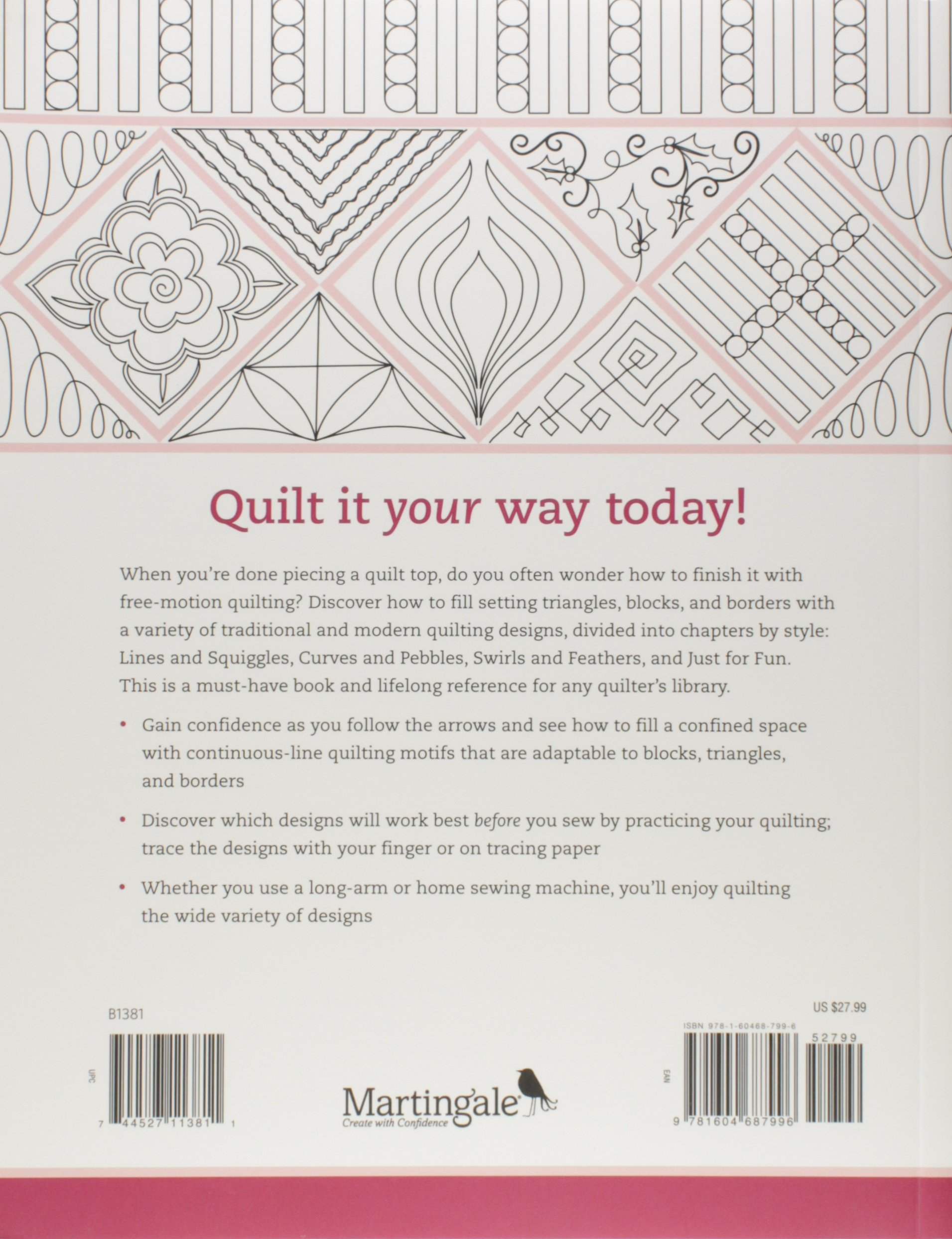 180 Doodle Quilting Designs: Free-Motion Ideas for Blocks, Borders ...