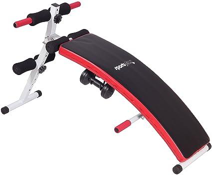 SportPlus Banco de Sentadillas – Banco Plegable Fitness – Incluye 2 Mancuernas de 1.5 Kg -