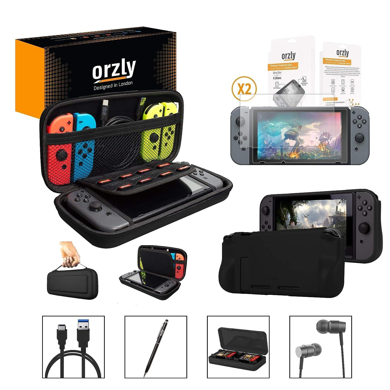 ORZLY® Pack Esencial de Accesorios para Nintendo Switch [Incluye: Protectores...