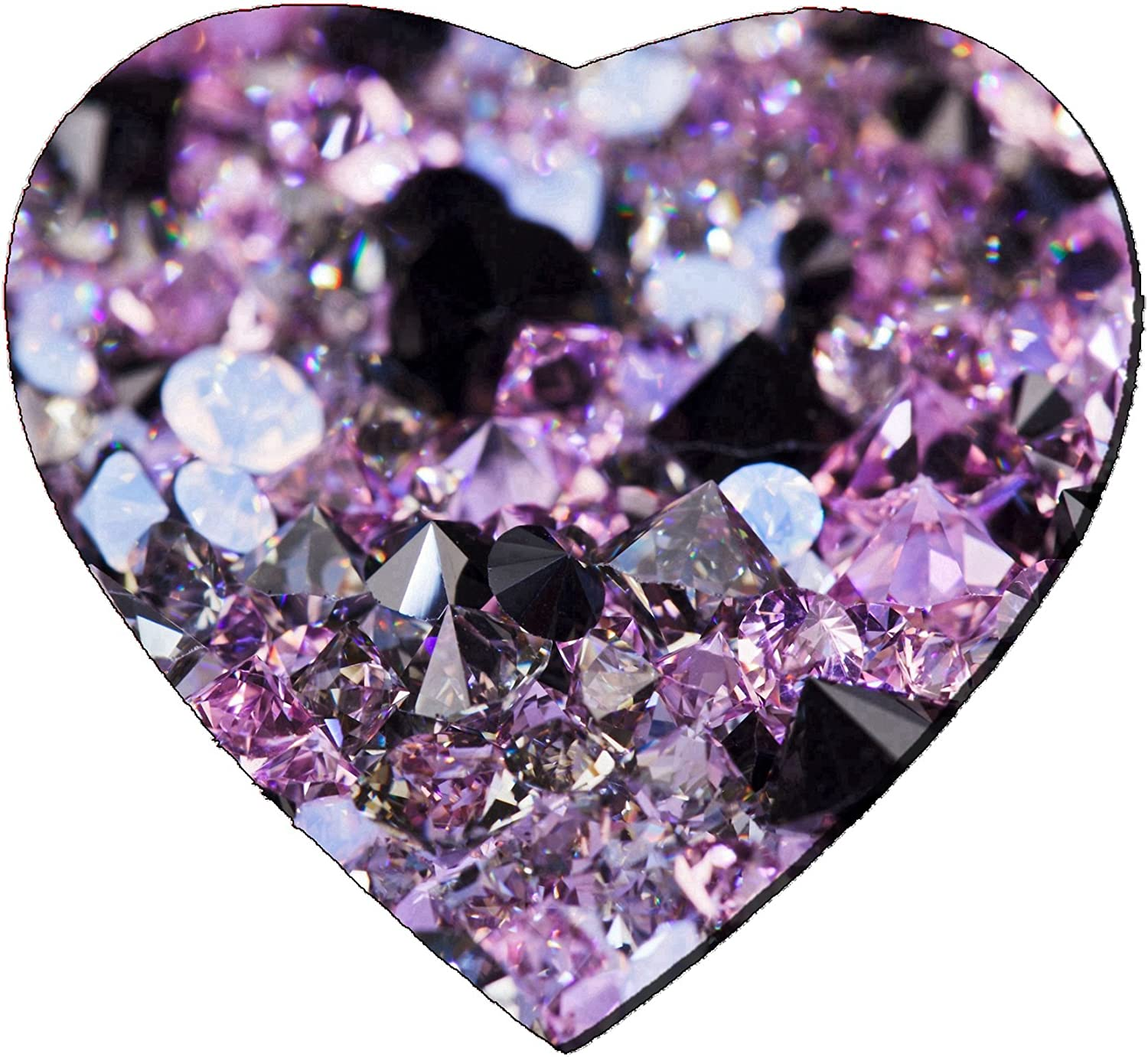 Liili Mousepad Heart Shaped Mouse Pads//Mat Small Purple gem Stones Luxury Background Shallow Depth of Field Image ID 11212154
