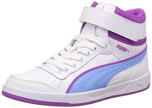 Puma Liza Mid, Baskets Mode Fille - Blanc (White/Little Boy Blue)