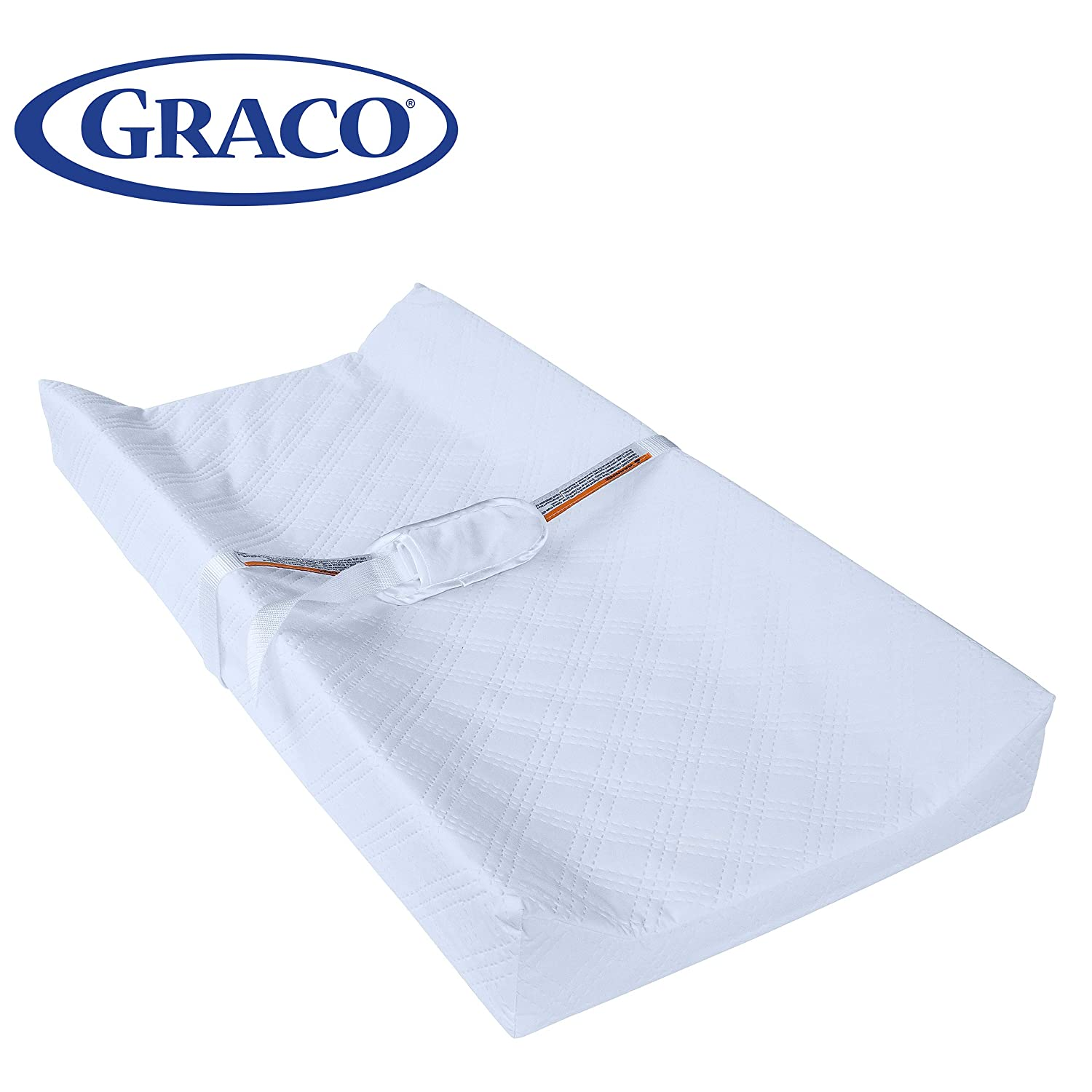 Graco Premium Contoured Infant and Baby Changing Pad - Ultra Soft Buckle Cover for Premium Comfort, Water Resistant, Baby Safety Belt, Non-Skid Bottom, Fits Standard Size Changing Topper