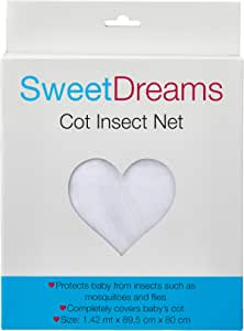 Sweet Dreams Cot Insect Net, White, 10 Count