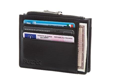 f71c295ce4 Portafoglio, FUERTE CARD, Porta Carte di Credito con Protezione Rfid, Porta  Tessere Uomo