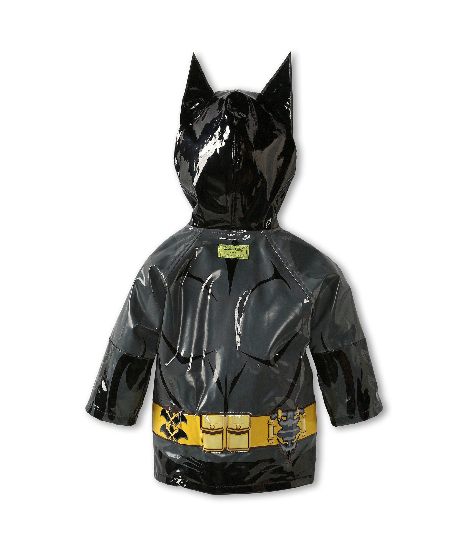 Western Chief Little Boys' Batman Everlasting Rain Coat, Black, 5/6 by Western Chief (Image #5)