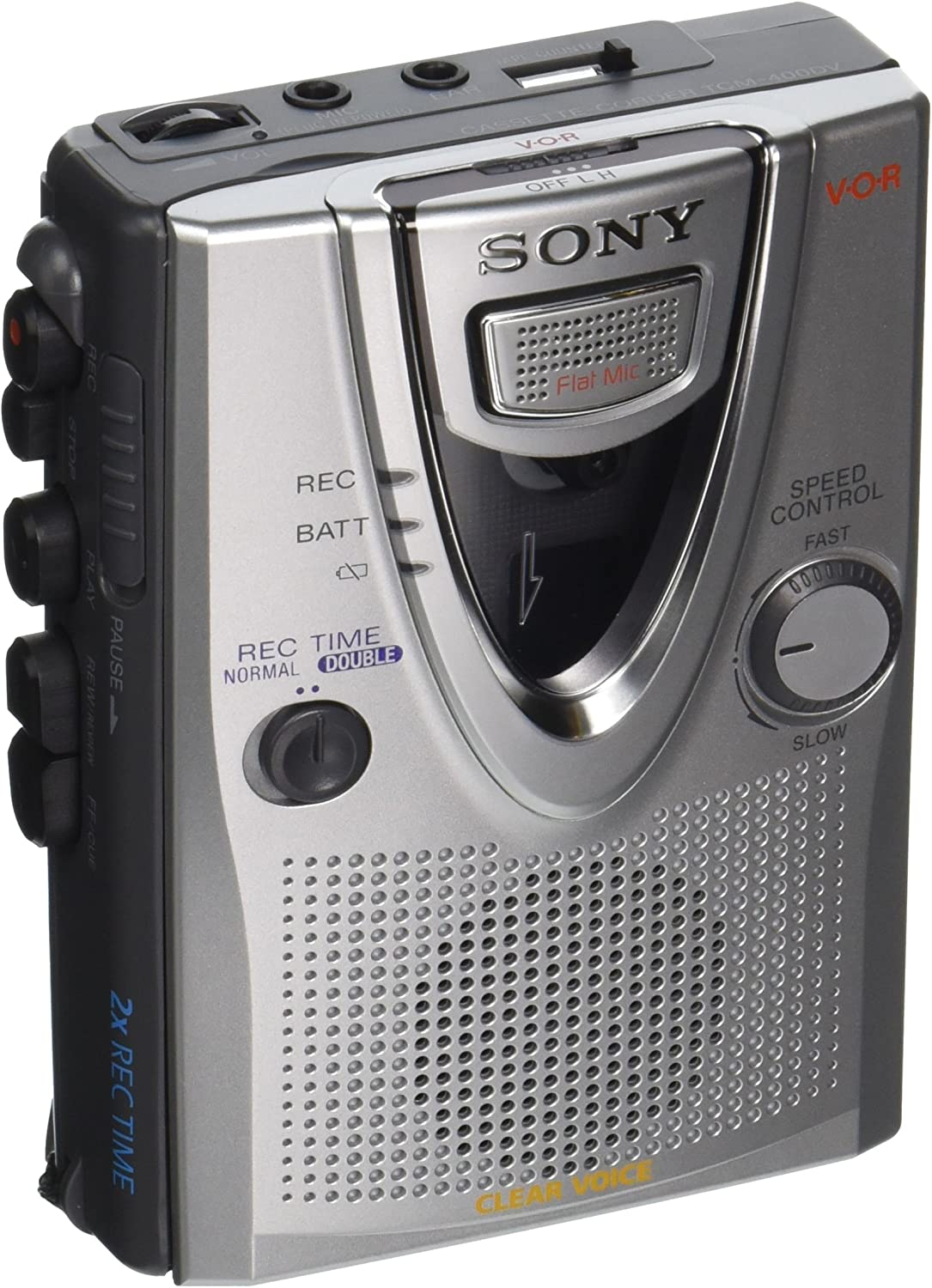 Sony TCM-400DV Clear Voice Cassette Recorder ~NEW WITHOUT PACKAGE~