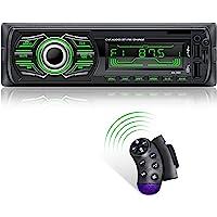 X-REAKO Radio Coche Autoradio Bluetooth Apoyo de Reproductor MP3 Llamadas Manos Libres Radio FM Soporte Control Remoto…
