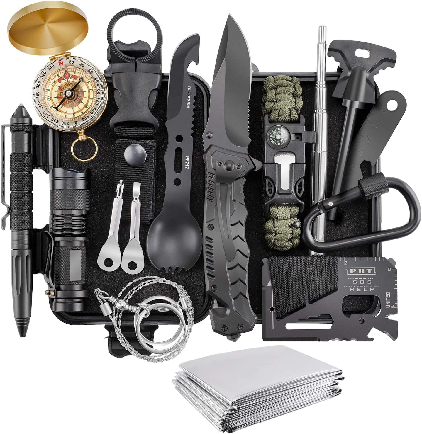 Amazon.com: Survival Kit, Verifygear 17 in 1 Professional Survival Gear  Tool Emergency Tactical First Aid Equipment Supplies Kits for Men Women  Families Hiking Camping Adventures: Sports & Outdoors