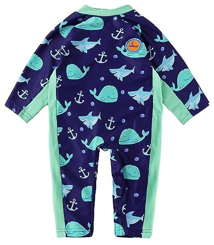 Swimbubs Bañador UV Bebé Traje de baño de Traje de baño para niños Traje de Neopreno para niñas Protección Solar Rash Guard Chaleco para niños ...