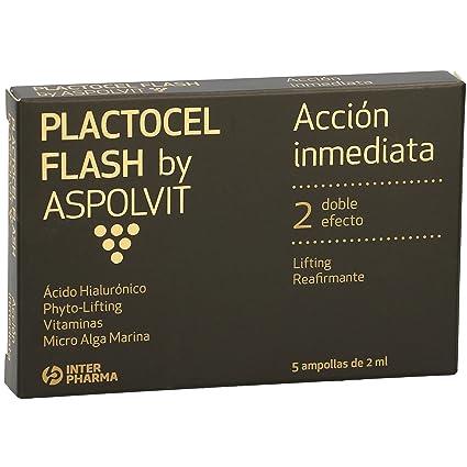 ASPOLVIT – FLASH Ampollas antiedad reafirmantes. Efecto lifting de acción inmediata con ácido hialurónico y