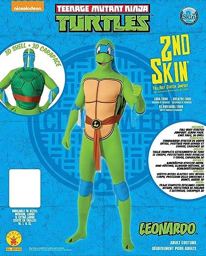Mens Teenage Mutant Ninja Turtles Leonardo 2nd Skin Full Body Jumpsuit Costume