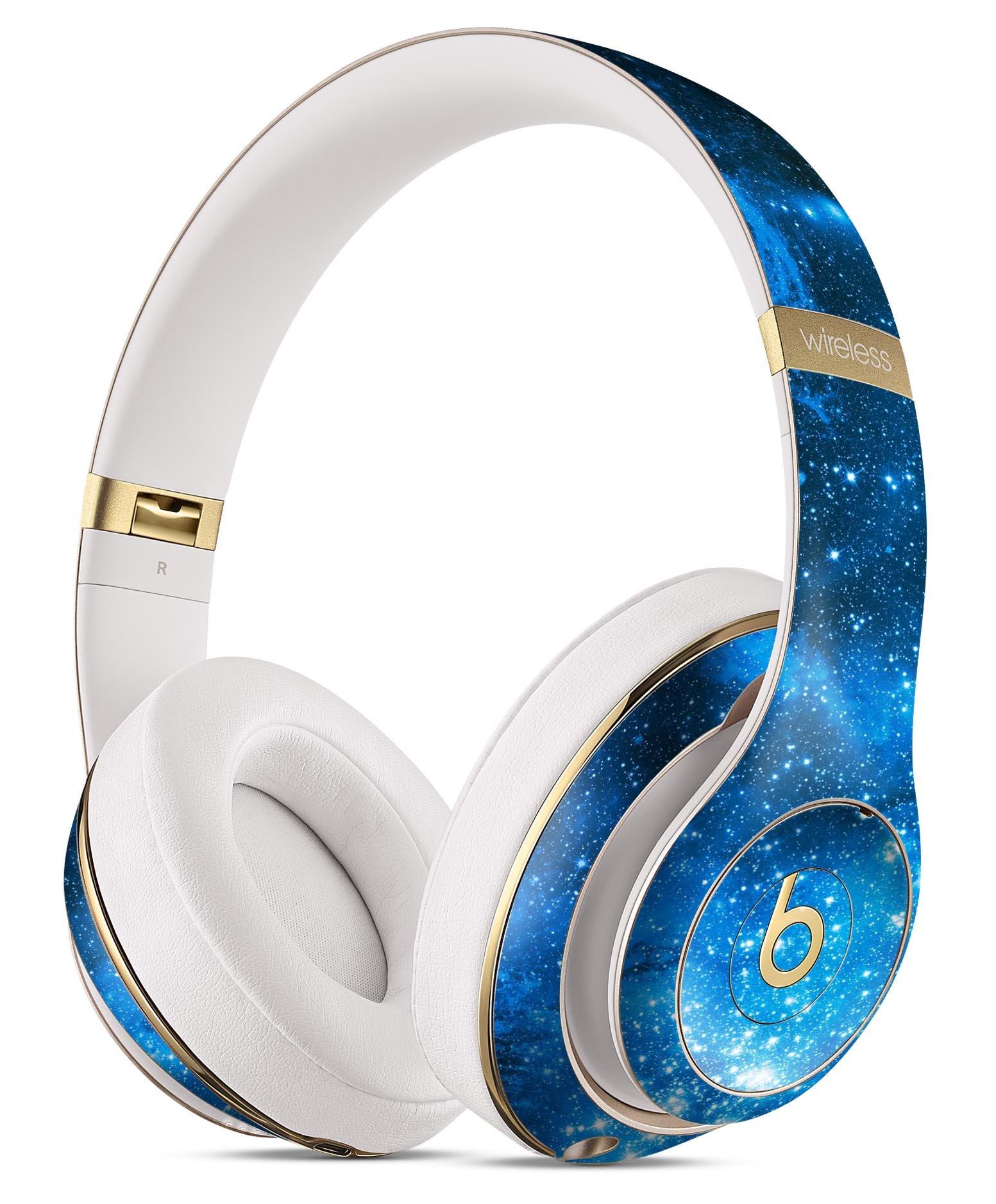 Blue Hue Nebula DesignSkinz Full-Body Skin Kit for the Beats by Dre Studio Remastered Wireless Headphones / Ultra-Thin / Matte Finished / Protective Skin Wrap