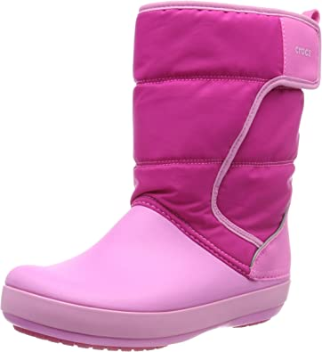 Crocs LodgePoint Snow Boot, Candy Party Pink, 5 M US Big Kid