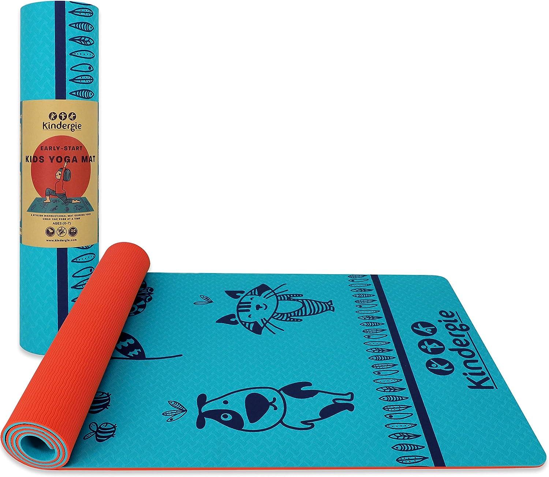 Kindergie - Alfombrilla de Yoga para niños con diseño de