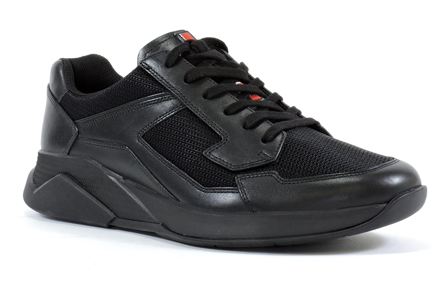 dec2f8e98afa8 Amazon.com | Prada Men's 4E2816 Leather Sneaker | Fashion Sneakers
