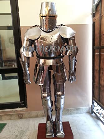 nauticalmart medieval knight crusador full suit of armor halloween costume