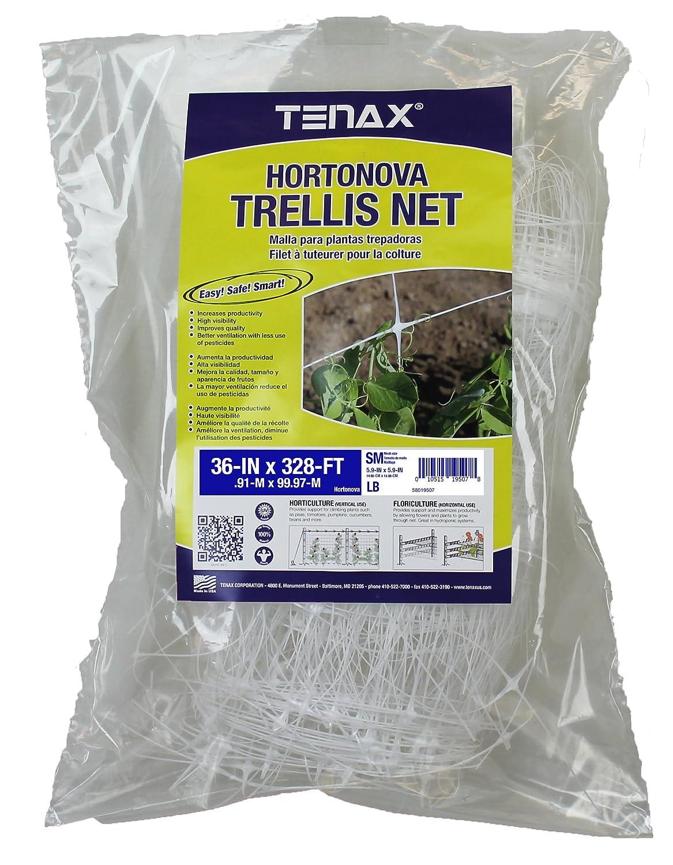 "Tenax 100521791 084064 Hortonova Sm Plant Trellis Net, 36"" X 328' White"
