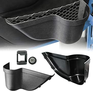 Front Door Storage Pockets Organizer Box For Jeep Wrangler JK JKU 2//4Door 2011