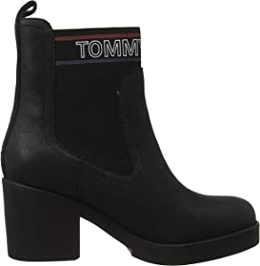 Tommy Hilfiger Corporate Elastic Suede Boot Botines Femme