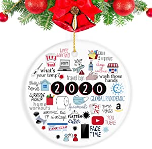 Kexle 2020 Ornament, 2020 Christmas Ornament Quarantine Gifts for Christmas Christmas Ornament Christmas Decorations Clearance - Funny Home Decor
